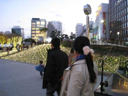 福岡市 ホームページ作成 警固公園のイルミネーション