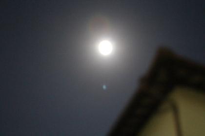 2014年10月8日(水)皆既月食 満月