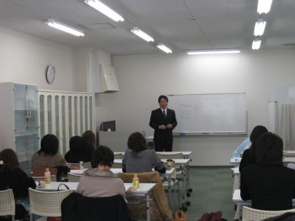 ホームページ作成 福岡市 セミナー 講義中